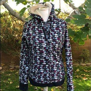 ROXY Lined Zip Hoodie Sweatshirt Jacket Coat